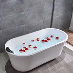 อ่างอาบน้ำตั้งพื้นขนาด1.1-1.5เมตร อ่างแช่ตัว อ่างสปา อ่างอาบน้ำอะคริลิค อ่างน้ำ อ่างอาบน้ำราคาถูก อุปกรณ์ตกแต่งห้องน้ำ ออกแบบห้องน้ำสวยๆ 1.1-1.5M Acrylic Freestanding Soaking Bathtub