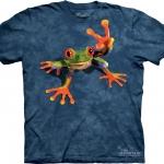 Pre.เสื้อยืดพิมพ์ลาย3D The Mountain T-shirt : Victory Frog