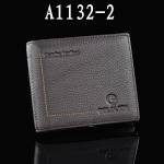 พรีออเดอร์ กระเป๋าสตางค์ผู้ชาย กระเป๋าสตางค์แบบ 2 พับ หนังแท้ ปั้มลายกราฟฟิค