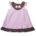 ชุดเดรสเด็กหญิงสีชมพู ผ้านิ่ม 12-24 เดือน
