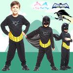 ' ( 4-6-8-10 ปี ) ชุดแฟนซี เด็กผู้ชาย แบทแมน Bat Man เสมือนจริง สีดำ มาพร้อมกับเสื้อ กางเกง หน้ากาก ชุดสุดเท่ห์ ใส่สบาย ลิขสิทธิ์แท้ ( 4-6-8-10 ปี )