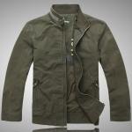 Pre-Order เสื้อเจ็คเก็ตผู้ชาย ผ้าฝ้ายผสม สีเขียว แฟชั่นเสื้อลำลอง เสื้อแจ็คเก็ตเท่ ๆ เสื้อกันหนาว Out door สำหรับหนุ่มขาลุย