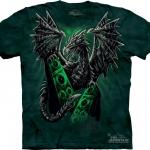 Pre.เสื้อยืดพิมพ์ลาย3D The Mountain T-shirt : Electric Dragon