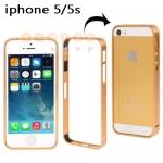 พร้อมส่ง เคสไอโฟน 5/5S บับเปอร์ สีทอง (ส่งฟรี EMS)