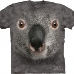 Pre.เสื้อยืดพิมพ์ลาย3D The Mountain T-shirt : Grey Koala Face