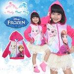 """"""" ( Size S-M-L-XL-F ) Disney Frozen for Girl เสื้อแจ็คเก็ต เสื้อกันหนาว เด็กผู้หญิง สกรีนลาย เจ้าหญิงเอลซ่า สีชมพู รูดซิป มีหมวก(ฮู้ด) ใส่คลุมกันหนาว กันแดด ใส่สบาย ดิสนีย์แท้ ลิขสิทธิ์แท้"""