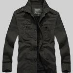 Pre-order เสื้อแจ็คเก็ต เสื้อคลุมกันหนาว กันหนาว แฟชั่นสไตล์อเมริกันคลาสสิก อปก หนุ่มมาดเท่ ขาลุย สีดำ NIAN Jeep