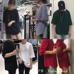 [Preorder] เสื้อยืดเปล่าแขน 5 ส่วนทรงหลวม มีสีขาว/ดำ/เทา/เขียว/แดง