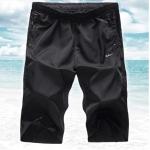 (Pre-Order) กางเกงขาสั้น กางเกงลำลอง ผ้าโพลีเอสเตอร์สีดำ แฟชั่นฤดูร้อนสำหรับผู้ชาย (ลดราคาพิเศษเฉพาะช่วงนี้)