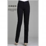 Pre order กางเกงทำงาน กางเกงลำลอง กางเกงเอวสูง กางเกงแฟชั่นเกาหลี BIG SIZE สีดำ