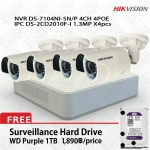 Hikvision POE Kit DS-7104NI-SN/P, DS-2CD2010F-Ix4