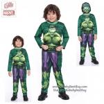 """"""" ชุดแฟนซี เด็กผู้ชาย Hulk - The Avengers Super Hero - The Hulk เสมือนจริง มาพร้อมกับเสื้อ กางเกง หน้ากาก เพื่อให้คุณหนูๆได้สนุกกับชุดsuper hero คนโปรดตามจิตนาการ ชุดสุดเท่ห์ ใส่สบาย ลิขสิทธิ์แท้ ( 4-6-8-10 ปี )"""