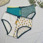 [พร้อมส่ง] กางเกงในลายสับปะรดเซ็ท 4 ตัว