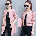 [พร้อมส่ง] เสื้อแจ็คเก็ต 2in1 สามารถใส่ได้ทั้งแบบยาวและสั้น มีสีชมพู/ครีม/เขียวทหาร