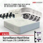 Hikvision POE Kit DS-7108NI-SN/P, DS-2CD2010F-Ix4, DS-2CD2110F-Ix4