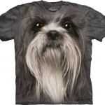 Pre.เสื้อยืดพิมพ์ลาย3D The Mountain T-shirt : Shih Tzu Face