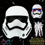 """ Mask Star Wars หน้ากากสตาร์วอร์ First Order Stormtrooper มีไฟ ที่ตา"