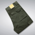 Pre-Order กางเกงยีนส์ ขายาว กางเกงแนวท่องเที่ยวผจญภัย สีเขียวทหาร แฟชั่นกางเกงลำลอง