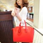 (Pre-Order) กระเป๋าแฟชั่น กระเป๋าสะพายขนาดใหญ่ กระเป๋าแฟชั่นเกาหลี แฟชั่นกระเป๋าสไตล์เกาหลี ปี 2013 สีแดง
