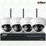 Dahua WiFi Kit NVR4104HS-W-S2, IPC-HDBW1320E-Wx4, WD Purple Surveillance Hard Drives 1TB