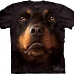Pre.เสื้อยืดพิมพ์ลาย3D The Mountain T-shirt : Rottweiler Face