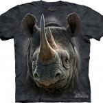 Pre.เสื้อยืดพิมพ์ลาย3D The Mountain T-shirt : Black Rhino
