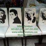 เก้าอี้สกีนลายดารา