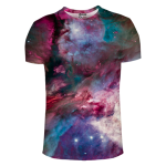 เสื้อยืดพิมพ์ลาย MR.GUGU & Miss GO : Pink Nebula T-Shirt