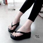 รองเท้าหูคีบสไตล์ญี่ปุ่น แต่งมุกด้านหน้า