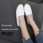 รองเท้า Kenzo ทรง Espradill วัสดุหนังนิ่มปั้มลึก