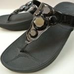 รองเท้า Fitflob Lucia Black เพชร 5 เม็ด สีดำ No.FF066