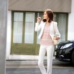 Pre-Order กางเกงทำงานผู้หญิง กางเกงสแล็ค ขาตรง สีขาว และสีดำ