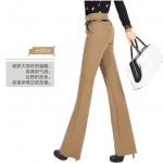 Pre-Order ลด 63% กางเกงแฟชั่นผู้หญิง ขาม้า ผ้ายืดเข้ารูปสีกากี