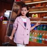 เสื้อสูท blazer เบลเซอร์ เด็กสีชมพู