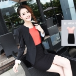 เสื้อสูทผู้หญิง สูทบาง ฝีมือตัดเย็บระดับ High -end นำเข้าจากประเทศเกาหลีแท้ แขนยาว สีน้ำดำ