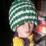 หมวก ผ้าพันคอ 2in1
