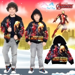 """"""" ( S-M-L-XL ) เสื้อแจ็คเก็ต เสื้อกันหนาว เด็กผู้ชาย สกรีนลาย The Avengers - Iron Man สีดำ รูดซิป มีหมวก(ฮู้ด) ใส่คลุมกันหนาว กันแดด สุดเท่ห์ ใส่สบาย ลิขสิทธิ์แท้ (ไซส์ S-M-L-XL )"""