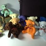"""ตุ๊กตาหมีน่ารัก คละสี size 8"""" 10 ตัว แถมกล่อง Box set มูลค่า 150 บาท !!"""