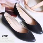 รองเท้าแฟชั่นมาใหม่ คัชชู ทรงสวย Style Zara ส้นเตี้ย งานคุณภาพ แบบสุภาพ
