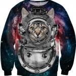 Pre-Order เสื้อยืดพิมพ์ลาย MR.GUGU & Miss GO : ASTRONAUT CAT SWEATER