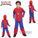"""""""ชุดแฟนซี เด็กผู้ชาย Super Hero Spiderman เสมือนจริง มาพร้อมกับเสื้อ กางเกง หน้ากาก ชุดสุดเท่ห์ ใส่สบาย ลิขสิทธิ์แท้ ( S-M-L-XL ปี )"""