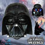 """ Mask Star War- Darth Vader - หน้ากากดาร์ธ เวเดอร์ ไฟกระพริบสีแดงที่ตา มีเสียง"