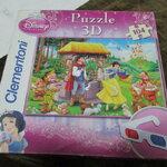 จิ๊กซอว์ 104 ชิ้น disney puzzle 3 D พร้อมแว่น สามมิติ
