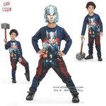 """"""" ชุดแฟนซี เด็กผู้ชาย Avengers - Thor Super Hero - สีน้ำเงิน เสมือนจริง มาพร้อมกับเสื้อ กางเกง หน้ากาก เพื่อให้คุณหนูๆได้สนุกกับชุด Super Hero คนโปรดตามจิตนาการ ชุดสุดเท่ห์ ใส่สบาย ลิขสิทธิ์แท้"""