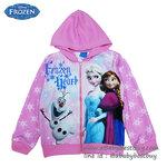 """"""" ( Size เด็ก 4-6-8-10 ปี ) Jacket Disney Frozen for Girl เสื้อแจ็คเก็ต เสื้อกันหนาว เด็กผู้หญิง สีชมพูอ่อน รูดซิป มีหมวก(ฮู้ด)ใส่คลุมกันหนาว กันแดด ใส่สบาย ดิสนีย์แท้ ลิขสิทธิ์แท้"""