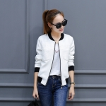 (พร้อมส่ง) เสื้อแจ็คเก็ตสีคลาสสิคสไตล์เกาหลี มีสีขาว/ดำ