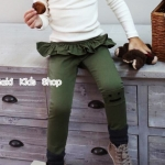 กางเกงขายาวเด็ก สีเขียว Phelfish