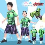 ' ( 4-6-8 ) ชุดแฟนซี เด็กผู้ชาย The Hulk - Super Hero - The Avengers ยักษ์เขียว เสื้อแขนสั้น ขาสั้น สกรีนลายThe Hulkมีไฟที่หน้าอก เพื่อให้คุณหนูๆได้สนุกกับชุดsuper hero คนโปรดตามจิตนาการ ชุดสุดเท่ห์ ใส่สบาย ลิขสิทธิ์แท้