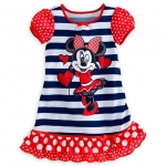 Minnie Mouse Striped Nightshirt for Girls Size3