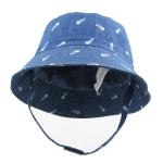 Pre-order หมวกยีนส์แฟชั่น หมวกปีกกว้าง หมวกฤดูร้อน กันแดด กันแสงยูวี สียีนส์ฟอกพิมพ์ลายเทคนิคก้างปลา